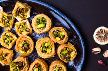 Middle Eastern Dessert With Pistachio