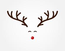 Christmas Reindeer Symbol, Ant...