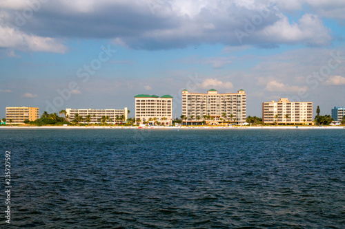 Fort Myers beach Florida holiday vacation destination, coast of Estero Island wi Wallpaper Mural