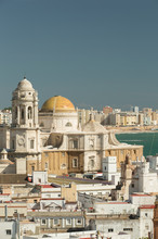 Cityscape With Cadiz Cathedral In Cadiz, Spain