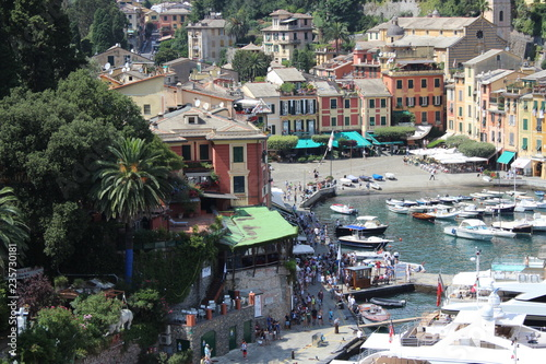 Staande foto Kiev Scene from beautiful shoot of Portofino with forest and port