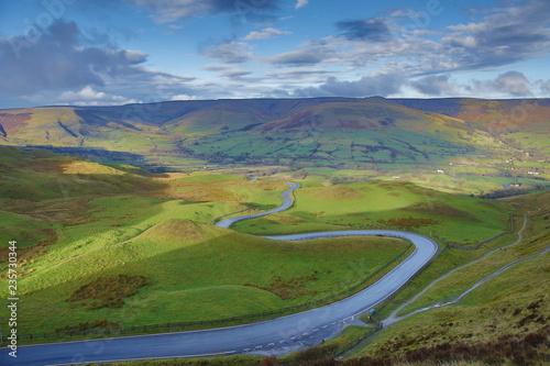 Printed kitchen splashbacks Beige views from the great ridge, Castleton, Derbyshire