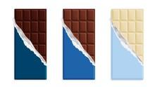 Milk Chocolate Bar In A Blue W...