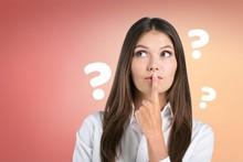Question Woman Apron Attractiv...