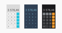 Calculator Vector Illustration On White Background, Calculator Design