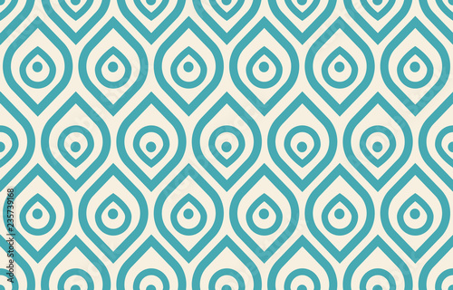 Valokuvatapetti Vintage peacock pattern
