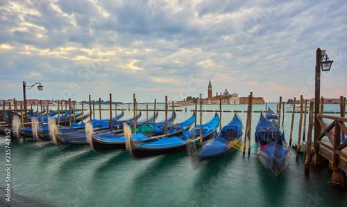 Staande foto Venice Grand Canal Embankment and San Giorgio Maggiore Church at Dawn, Venice