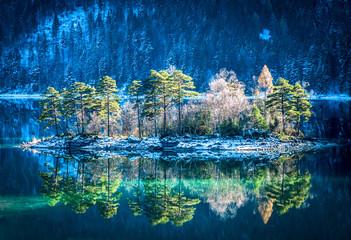 Fototapeta Rzeki i Jeziora eibsee lake in germany