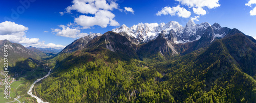 Fototapeta Aerial view on mountains in Triglav park obraz