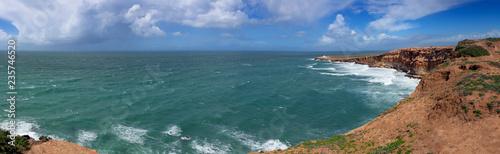 Ocean waves and rocks on Atlantic coast