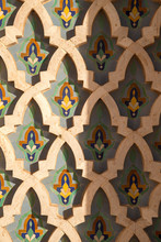 Painted Wall In Hassan II Mosq...