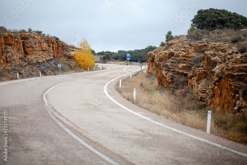 Keuken foto achterwand Route 66 Carretera con curvas