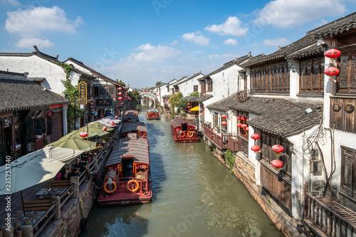 Deurstickers Asia land Kanäle in der Altstadt von Suzhou, China