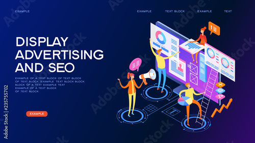 Photo  Display advertising and seo concept banner