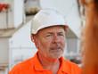Portrait of dock worker in hardhat