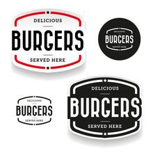 Burgers Vintage Label Set