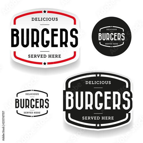 Photo  Burgers vintage label set