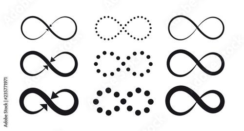Tableau sur Toile Set of infinity symbols