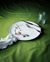 Dirty Plate On Table