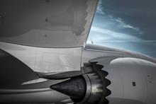 Jet Engine On Boeing 787 Dreamliner