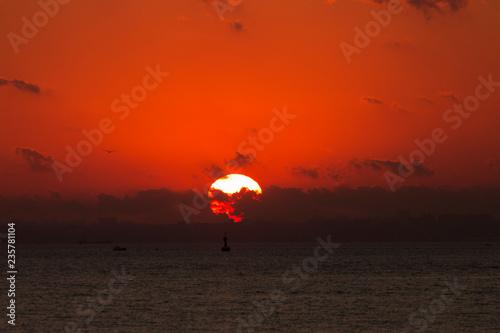 Foto op Plexiglas Zee zonsondergang Marmara Sea Sunset