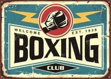 Boxing Club Retro Tin Sign Tem...