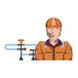 pipeline petroleum with worker character