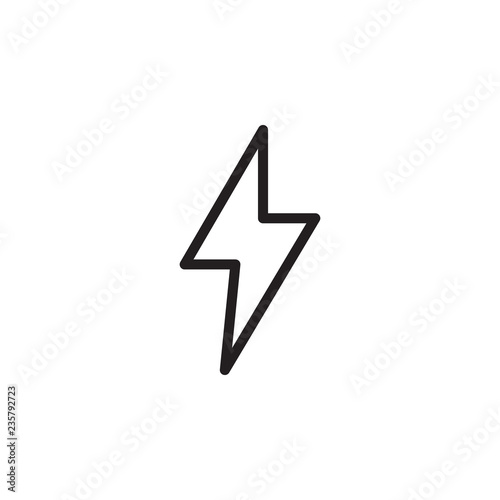 Lightning Bolt Icon Vector Lightning Bolt Sign Outline On White Background Flat Style For Graphic Design Logo Web Ui Mobile App Eps10 Buy This Stock Vector And Explore Similar Vectors At