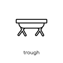 Trough Icon From Agriculture, Farming And Gardening Collection.