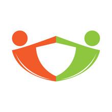 Isolated Teamwork Logo Image. Vector Illustration Design