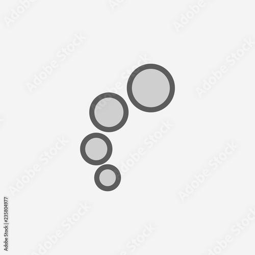 Fototapeta bubbles field outline icon. Element of 2 color simple icon. Thin line icon for website design and development, app development. Premium icon obraz na płótnie