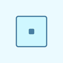 Playing Zary One Field Outline Icon. Element Of 2 Color Simple Icon. Thin Line Icon For Website Design And Development, App Development. Premium Icon