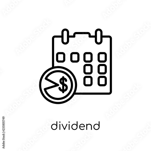 Fotografía  Dividend icon from Dividend collection.