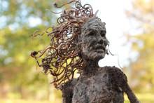 Fantasy Tree Woman, Hamadryad, With Autumn Background