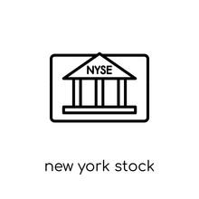 New York Stock Exchange Icon. ...