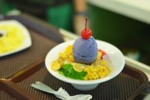 Halo-halo Filipino Dessert With Ube Ice Cream Photo
