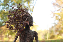 Fantasy Tree Woman, Dryad, With Autumn Background