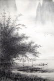 Chinese traditional painting of landscape - 235810306