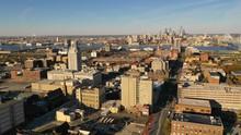 Aerial View Camden New Jersey Downtown City Skyline Plus Philadelphia
