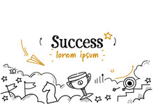 Successful Business Winner Fir...