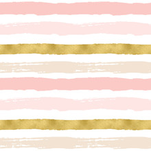 Rough Painted Stripes Patterns. Seamless