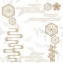 Gold Geometric Template With J...