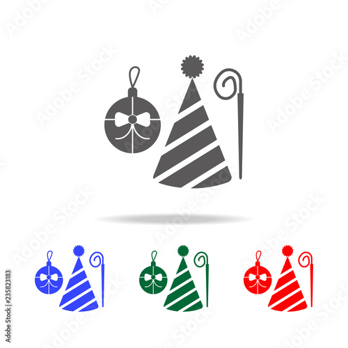 Christmas Holidays Icon.Holiday Attributes Icon Elements Of Christmas Holidays In