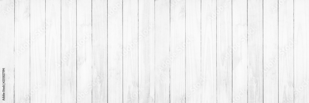 Fototapety, obrazy: Old white wood texture background.
