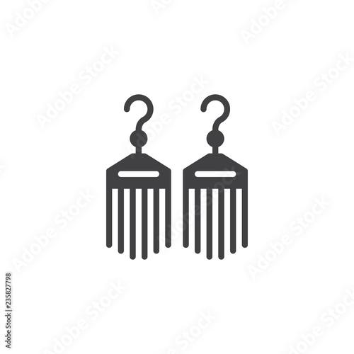 Fotografie, Obraz  Bijouterie earrings vector icon