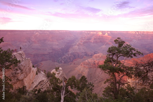 Deurstickers Purper Grand Canyon