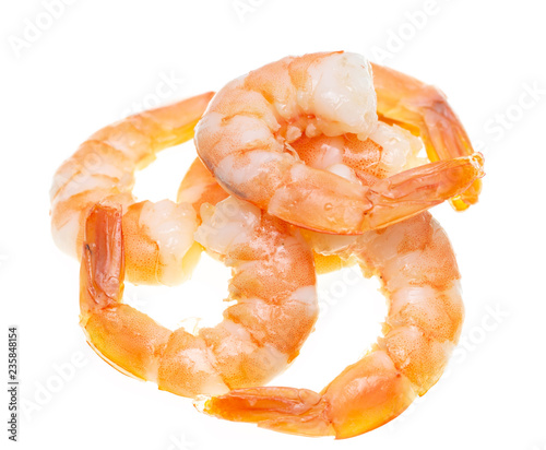 ready shrimp on white background