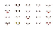 Kawaii Smile Emoticons. Japane...