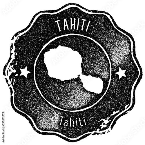 Tahiti map vintage stamp. Retro style handmade label, badge ... on vintage map of southeast asia, vintage map of costa rica, vintage map of caribbean,