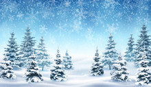 Background With Falling Snow A...